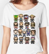 QWA Vinyl Pop-fighters Women's Relaxed Fit T-Shirt