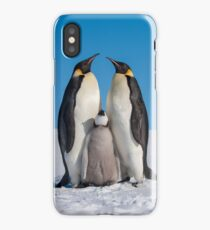 Emperor Penguins and Chick - Snow Hill Island iPhone Case
