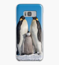 Emperor Penguins and Chick - Snow Hill Island Samsung Galaxy Case/Skin