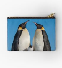 Emperor Penguins and Chick - Snow Hill Island Studio Pouch