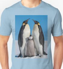 Emperor Penguins and Chick - Snow Hill Island Unisex T-Shirt