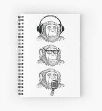 Hear Evil, See Evil, Speak Evil Spiral Notebook