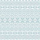 Aztec Stylized Pattern Duck Egg Blue & White by NataliePaskell