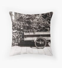 Carrier Tricycle Throw Pillow