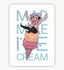 mad mike ice cream Sticker