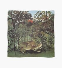 THE HUNGRY LION ATTACKING AN ANTELOPE - ROUSSEAU  Scarf