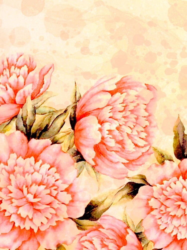 peonies on cream background by clemfloral