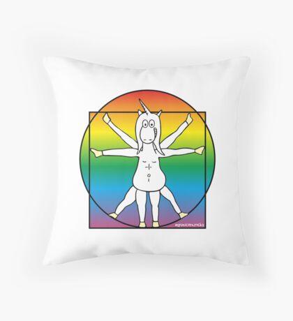 DaVinci Pride Einhorn Kissen