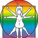 DaVinci Pride Unicorn by claudiasartwork