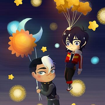 Moon and Sun and Stars Balloons by bloomejasmine
