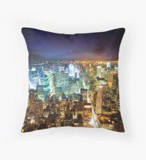 New York - City of Lights Throw Pillow