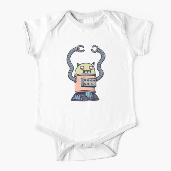 Cat-Stro-Bot! Short Sleeve Baby One-Piece