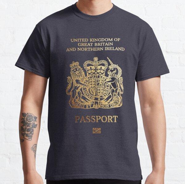 British Passport Cover  Classic T-Shirt