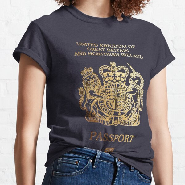 British Passport Cover  Classic T-Shirt