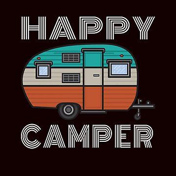 Happy Camper (Vintage, 70's, Retro,)  by WEBuyApparel