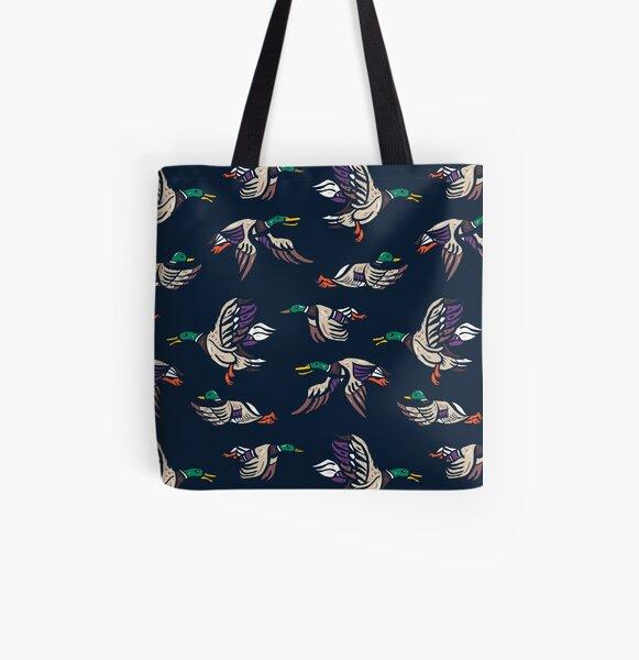 Male Mallard ducks All Over Print Tote Bag