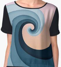 Fibonacci Wave Chiffon Top