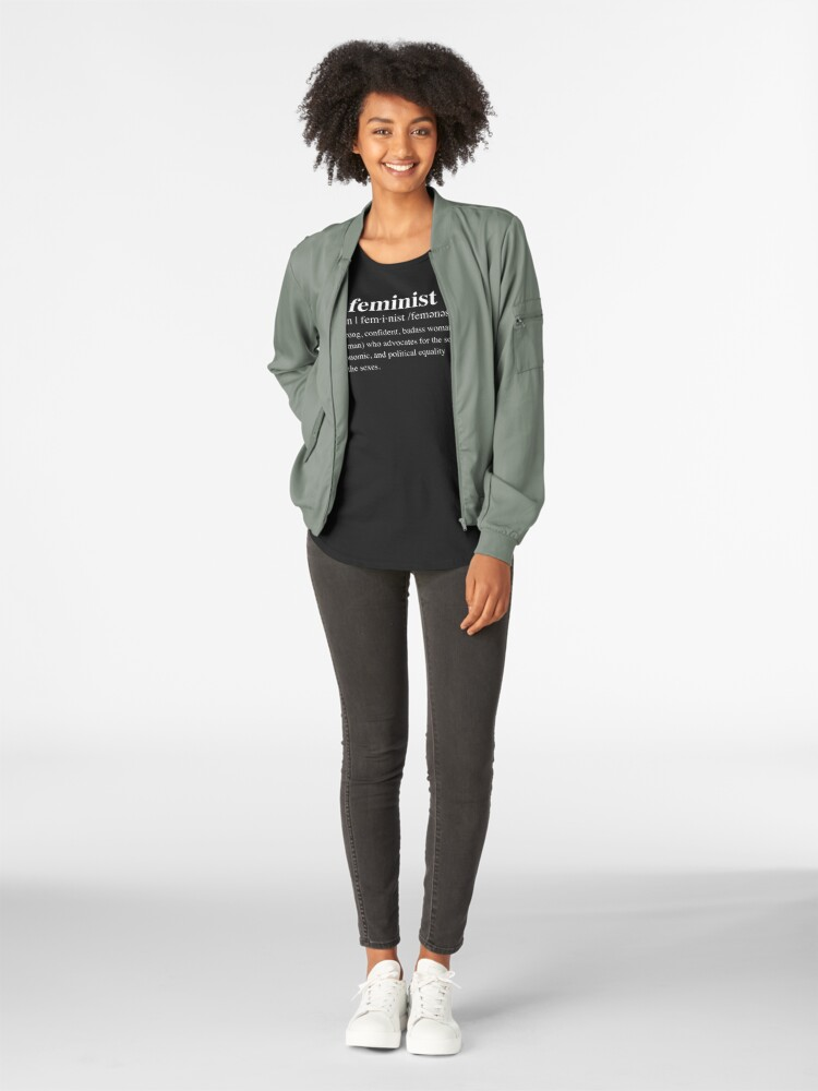 Alternate view of Badass Feminist Definition Premium Scoop T-Shirt