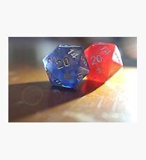 Light Dice Photographic Print