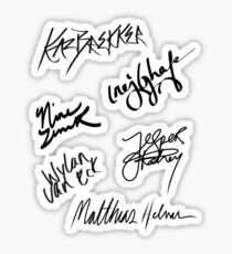 Six of Crows | The Crows' Signatures Sticker