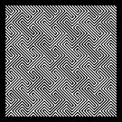 Monochrome Repeating Pattern 001 by Rupert Russell