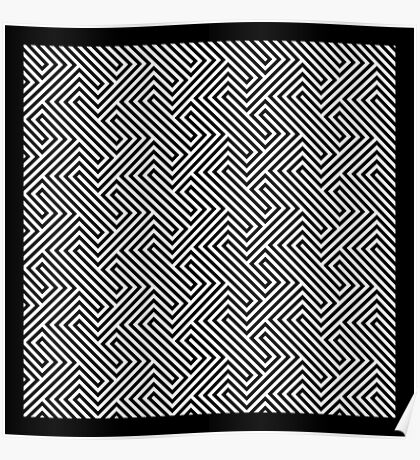 Monochrome Repeating Pattern 001 Poster
