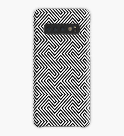 Monochrome Repeating Pattern 001 Case/Skin for Samsung Galaxy
