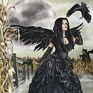 Raven Fairy Crow Witch Blackbird Corn Moon by Alison Spokes