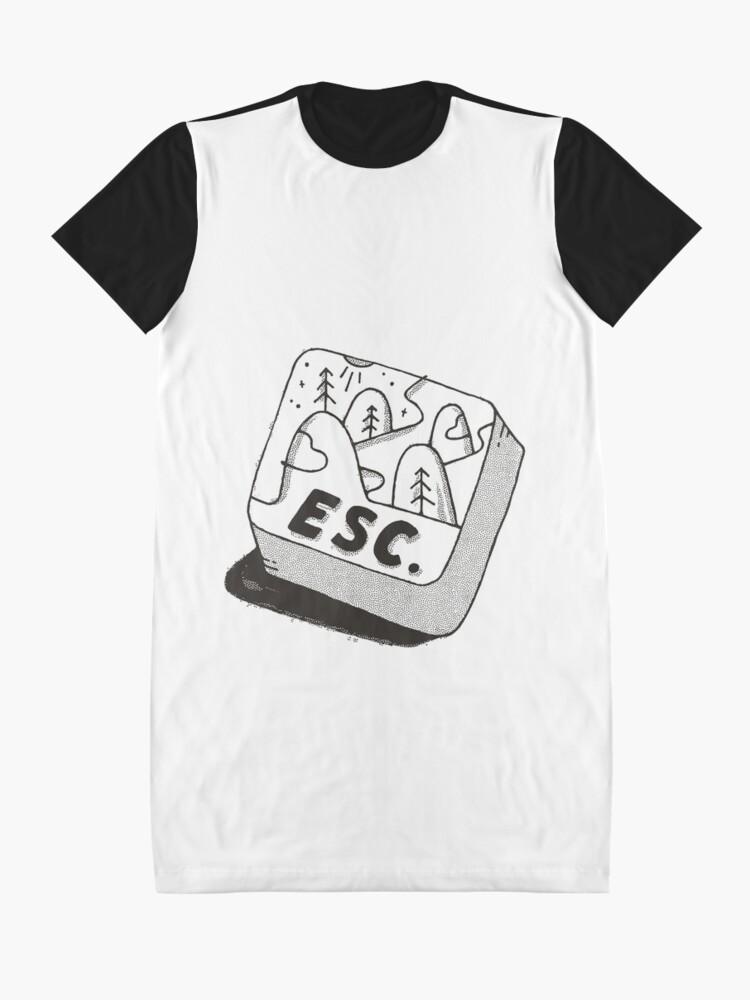 Alternate view of Escape Graphic T-Shirt Dress