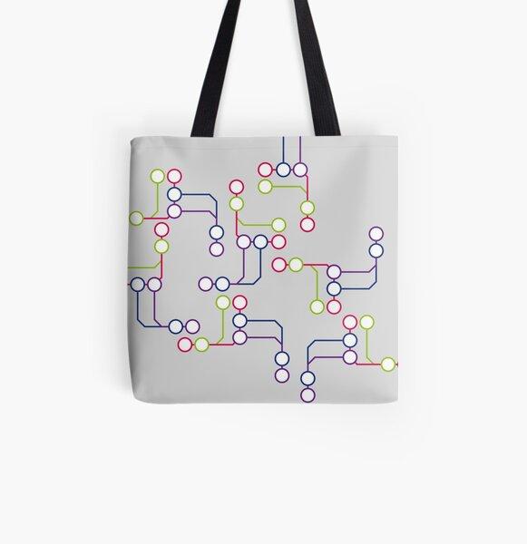 Subway#01 All Over Print Tote Bag
