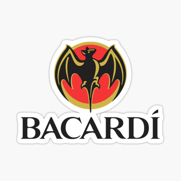 Bacardi Logo  Sticker