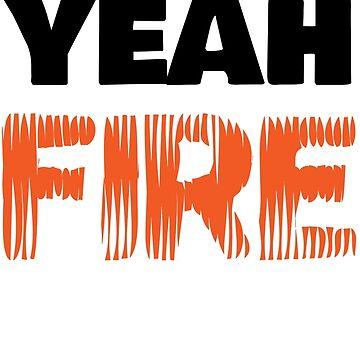 Yeah Yeah Fire - Fuego by Eleni Foureira Merchandise - Eurovision Merch by Halla-Merch