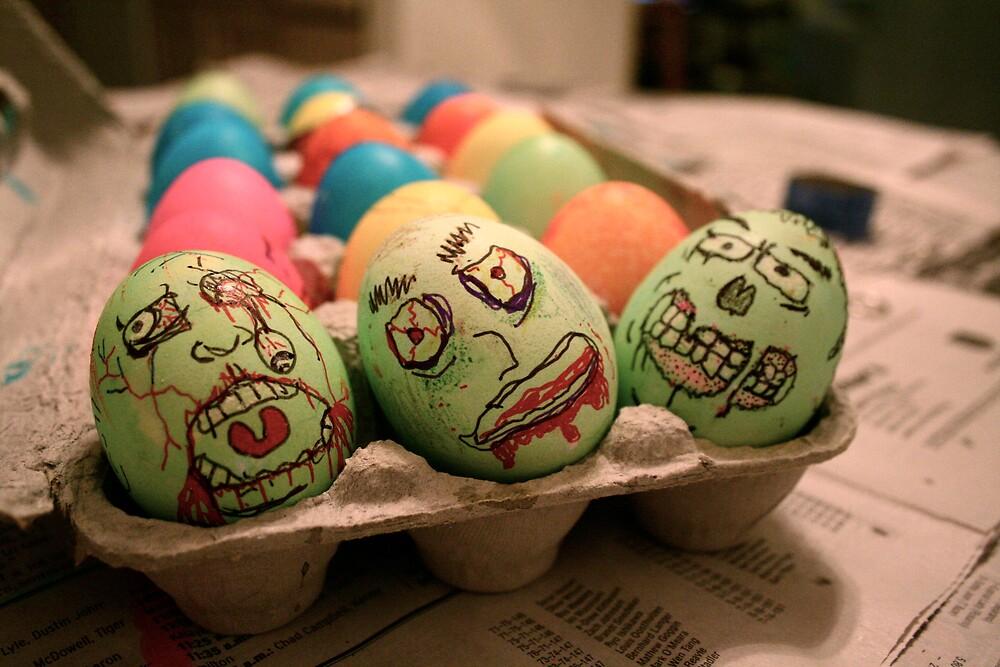 Zombie Easter Eggs by Alyssa Tucker