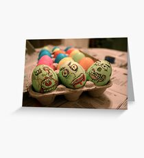 Zombie Easter Eggs Greeting Card