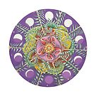 Spring Fern Mandala by SarahOyetunde