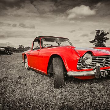 Red TR4  by hawkie