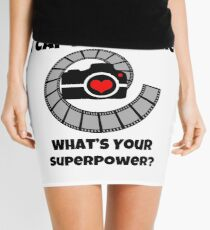 I Capture Time What's Your Super Power Camera and Film Design Mini Skirt