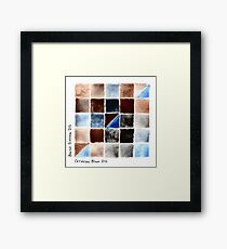 Watercolor Chart of Burnt Sienna and Cerulean Blue Framed Print