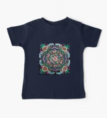 mint turquoise pink boho chic flowers tribal pattern  Baby Tee