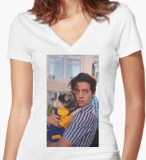 cole sprouse Women's Fitted V-Neck T-Shirt