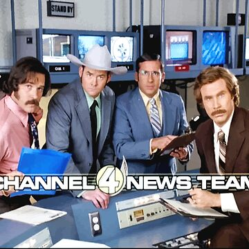 CHANNEL 4 NEWS TEAM ANCHOR MAN FAN ART BY NICHEPRINTSNYC by NichePrints