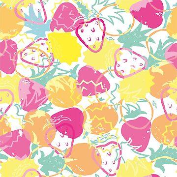 Summer Fruits Pattern dark by sarahmca