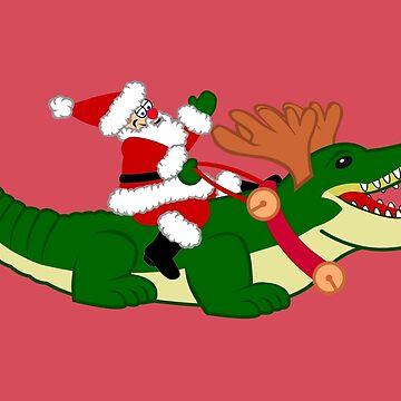 Santa Alligator by lonebannana