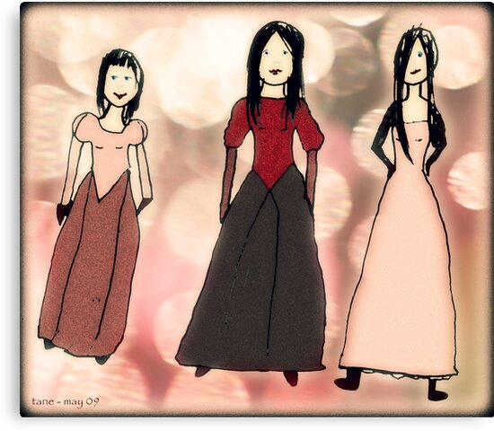 Work by Tane (8) - Three Beauties by micklyn