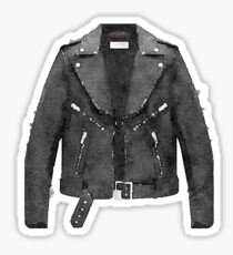 Tough Black Leather Jacket Watercolor - Hipster/Trendy/Fashion Sticker