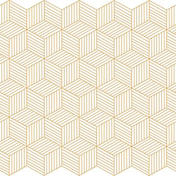 Honeycomb cubes pattern by DanDobsonDesign