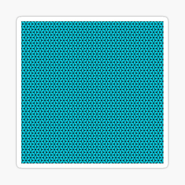 Abstract Turquoise Pattern 8 Sticker