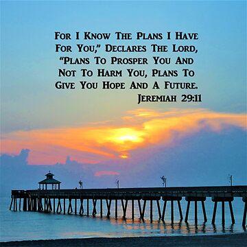 SERENE SUNRISE JEREMIAH 29:11 SCRIPTURE VERSE by JLPOriginals