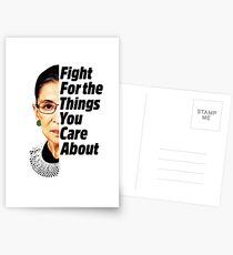 feeda2a38 RBG Ruth Bader Ginsburg Fight For The Things You Care About Postcards