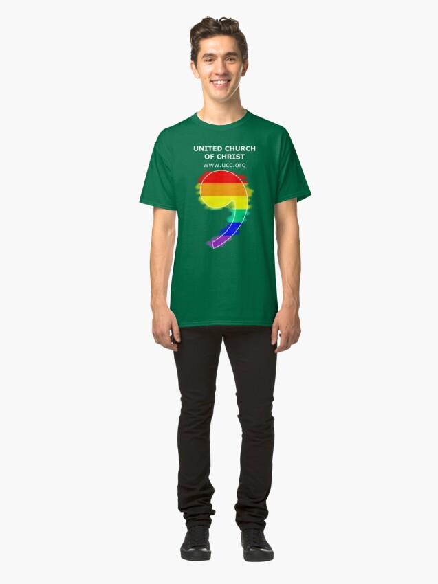 Alternate view of Classic Rainbow Comma Classic T-Shirt